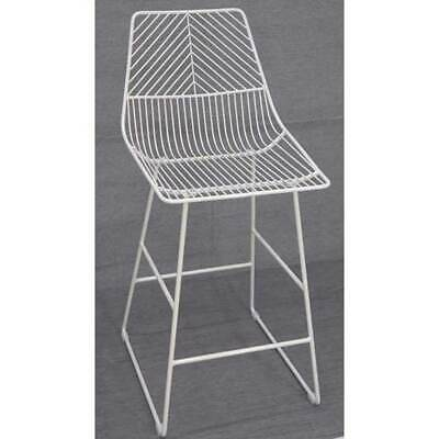Sive Indoor Wire Bend NET Stool Cafe Seat Dining Replica 65cm White