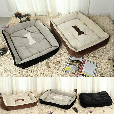 Hot Large Warm Soft Fleece Pet Dog Kennel Cat Puppy Bed Mat Pad House Cushion