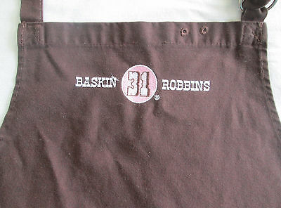 Vintage Employee Work Apron from Baskin Robbins 31 Flavors Ice Cream - Used