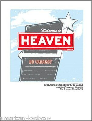 Death Cab For Cutie DCFC mini Art  Poster Codes and Keys Narrow Stairs Plans