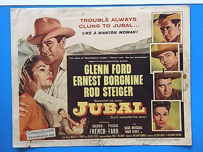 JUBAL Title Lobby Card (Fair) 1956 Glenn Ford  Cowboy Western 8331