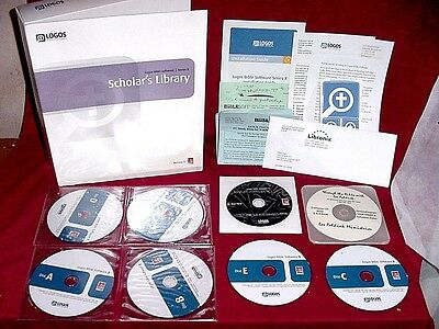 """Logos Research Systems """"Scholar's Library"""" Libronix Bible Software Series X  3"""