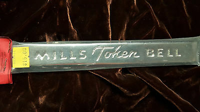 Mills Repro Token Bell Hi Top Name Plate For A Mills Antq Slot Machine Mlb7840