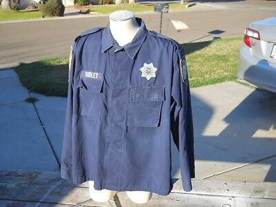 Vintage  Nevada State Trooper Highway Patrol Patches Shirt L Halloween Costume