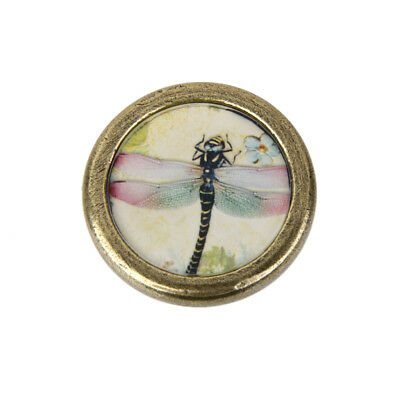 Cabinet Drawer Cupboard Pull Handle Antique Brass Bin Dresser Knob Dragonfly