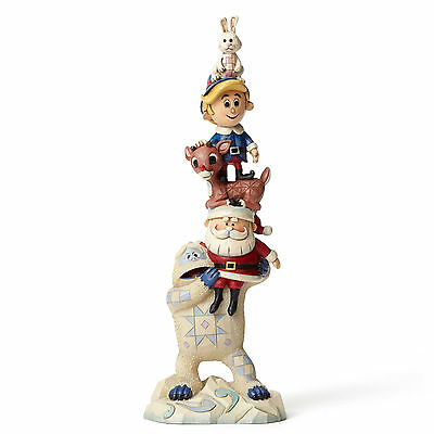 Jim Shore Rudolph Traditions ~ Stacked Rudolph & Friends Figurine ~ 4053072