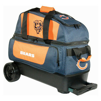 New NFL Chicago Bears 2 Ball Roller Bowling Bag Free Shipping