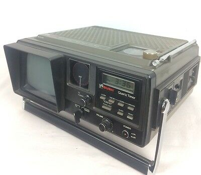 Vintage Retro 1980s Bush Rank BN652A TV Radio Alarm Clock 12v DC Mains