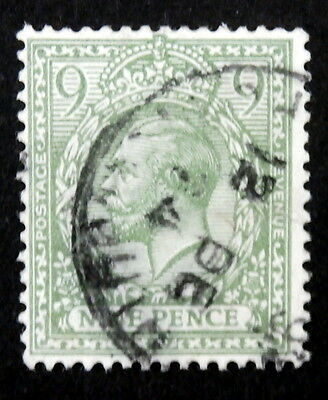 GB - 1922, 9p Olive Green, Scott #183, Used
