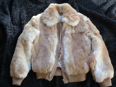*** Little Girl's Vintage Rabbit Coat, Size 10, Beautiful and Warm ! ***
