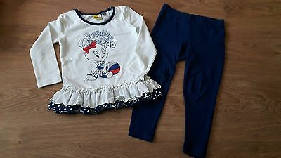 Girls Tweety Top & Leggings Set, size 2 years