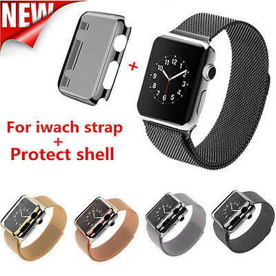 Stainless Steel Bracelet Strap Band +Cover Case for Apple Watch Series 2 38/42mm