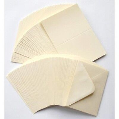 "25 IVORY CREAM 6"" x 4"" C6 225GSM CARD BLANKS WITH ENVELOPES CARD MAKING SUPPLIES"