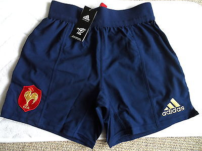 FRANCE ADIDAS 2016 RUGBY PLAYERS MATCH SHORTS Home DK BLUE Tags Original NEW TAG
