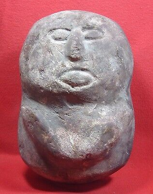 South East Asian Carved Stone Ancient Malay Culture, Circa 500Bc-1Ad,  8 Inches