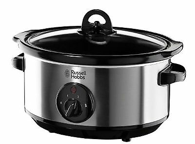 Russell Hobbs 19790 Slow Cooker, 3.5 L - Stainless Steel Silver