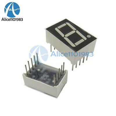 "10PCS 0.56"" 7 Segment Blue LED Display 1 Digit Common Anode"