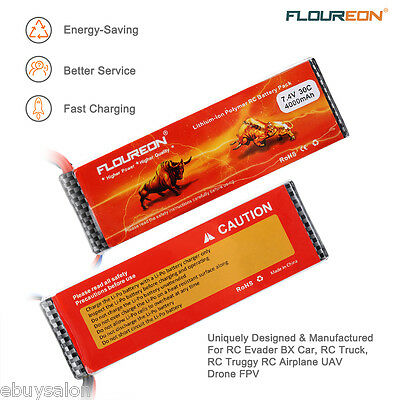 2x2S 7.4V 4000mAh 30C LiPo Battery Pack Deans Plug For RC Evader BX Car RC Truck