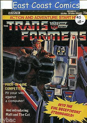 TRANSFORMERS #  5 - MARVEL UK WEEKLY COMIC 1980's