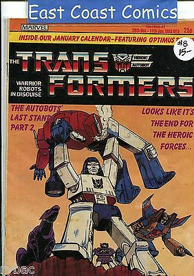TRANSFORMERS #  8 - MARVEL UK WEEKLY COMIC 1980's