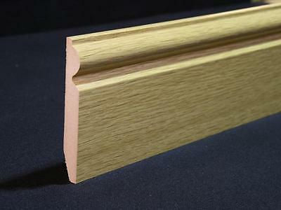 TALL OAK LAMINATE SKIRTING BOARDS 7 INCH HIGH 2.4m PACK OF 5 = 12 metres