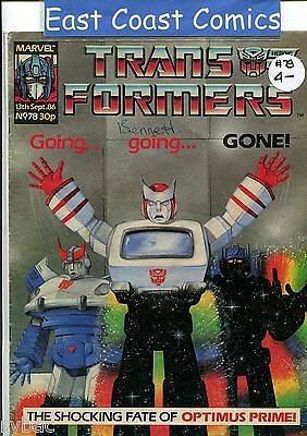 TRANSFORMERS # 78 - MARVEL UK WEEKLY COMIC 1980's