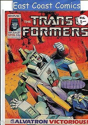 TRANSFORMERS #116 - MARVEL UK WEEKLY COMIC 1980's