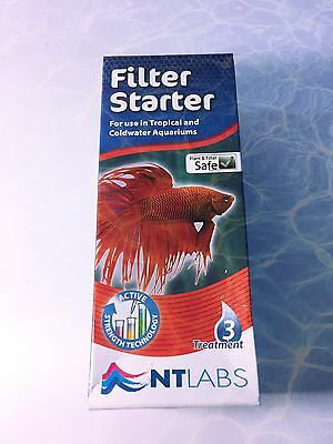 NT Labs Filter Starter Use In Tropical And Coldwater Aquariums Fast Acting 100ml