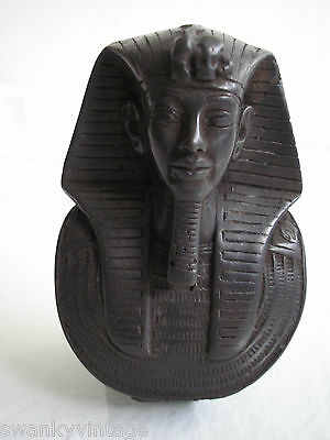 Hand-made hand Signed CARVED EGYPTIAN STATUE of Pharaoh King in Ancient Egypt