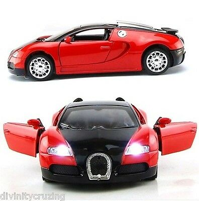 New 1:36 Scale Model Bugatti Veyron Car Model With Sound&Light Kid toy Display