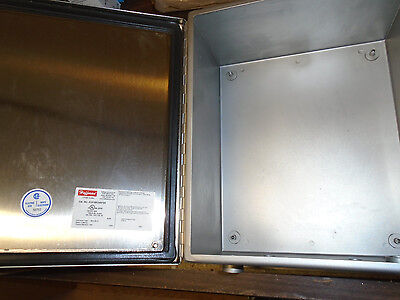 Junction Box Enclosure Hoffman A12106CHNFSS STAINLESS BRUSHED FINISH FREE SHPNG