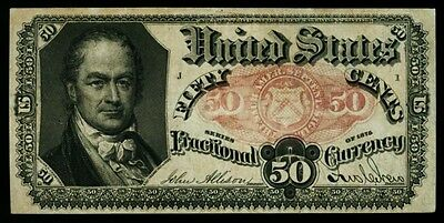 Series 1874 Fifty Cent 50c Fractional Note Fifth Issue  FR #1380 Grading AU/CU