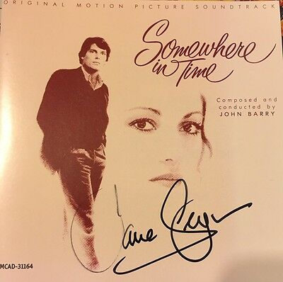 Jane Seymour Signed Somewhere In Time Cd Cover Soundtrack