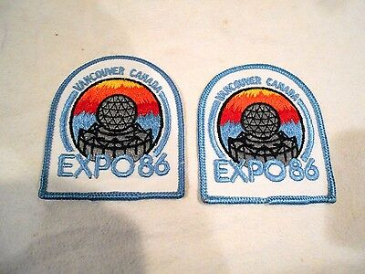 2-Expo 86 Vancouver Canada Patches 3 1/2""
