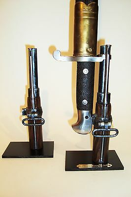 Support display stand for Martini-Henry M1871 bayonet with engraved metal plate