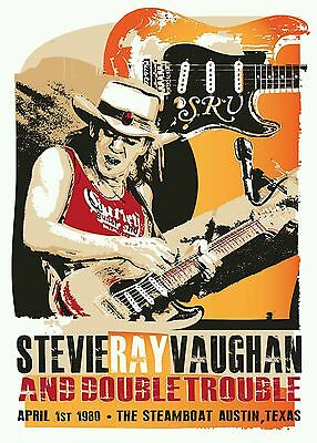 Stevie ray vaughan blues poster print