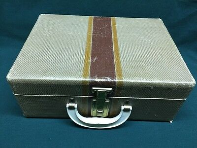 Vintage Child's Brown Doll Chest Trunk Suitcase Hard Shell