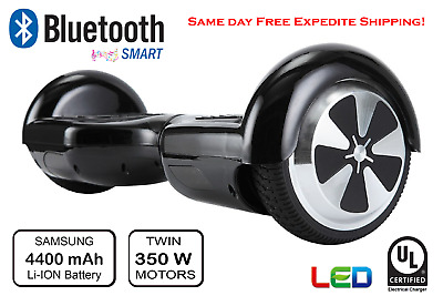 Safe 2 Wheel Electric Motorized Scooter Skateboard Bluetooth LED lights UL safe