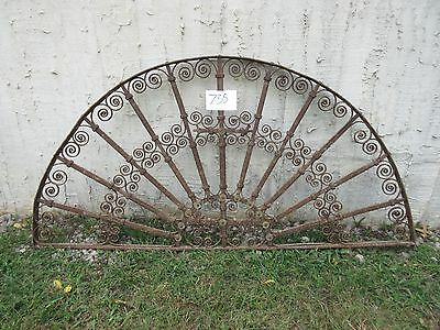 Antique Victorian Iron Gate Window Garden Fence Architectural Salvage #735