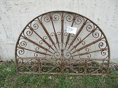 Antique Victorian Iron Gate Window Garden Fence Architectural Salvage #734