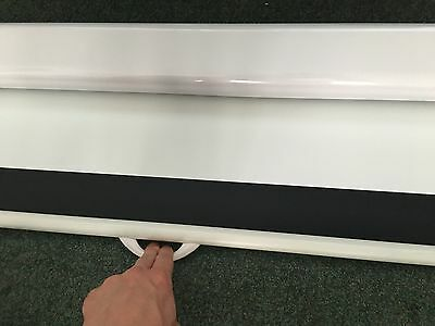 """72"""" Optoma DS-9072PWC 72 Diagonal 16:9 Home Cinema Pull Down Projector Screen"""