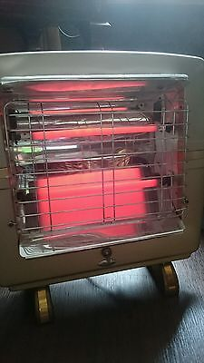 Vintage retro Belling Countess Gold 1950 Electric Two Bar Fire