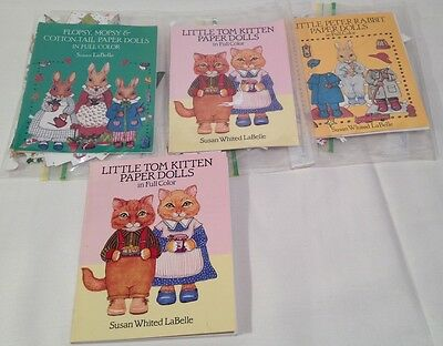 Susan Labelle Paper Dolls Peter Rabbit Flopsy Mopsy