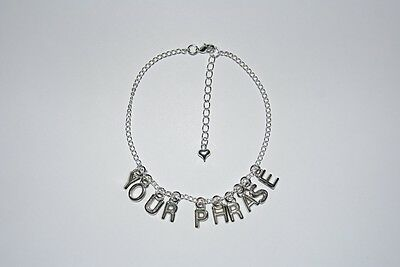 Custom Hotwife Choose 'YOUR PHRASE' Premium Anklet Ankle Chain Jewellery Swinger