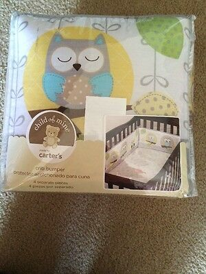 Carters Crib Bumper Treetop Friends New In Package