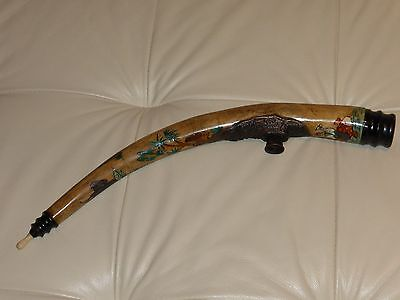 Antique Hand Painted Chinese Pipe