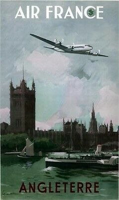 Affiche  Air France - Angleterre - Guerra 1951