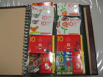 95 GREETING BARCODE FOLDED BOOKLETS COLLECTION fv£354 ALBUM CYL FV £354.00