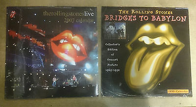 The Rolling Stones 1999 & 2007 Calendars New and Sealed