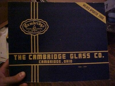 Book CAMBRIDGE GLASS CO, REPRINTS of 1930-34 CATALOGS w/ Values as of 2000